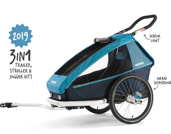 bike-trailer-with-suspension-and-integrated-sensor-light-for-one-kid-model-year-2019